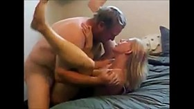 the old man is filmed having sex hot blonde