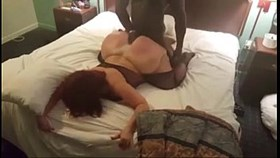 Big booty cougar cheats on hubby with young black guy she met on MilfHoookup.c