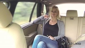 huge tits blonde sucks big cock in fake taxi in publ