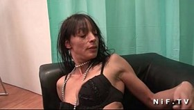 skinny french mature gets deep anal fucked