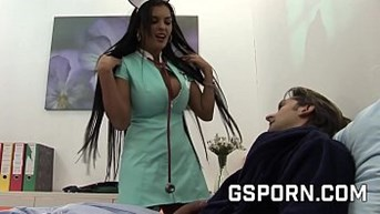 sexy busty nurse banging jasmine black with a rough cock
