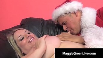 Horny Hottie Maggie Green Is Banged By Santa ampamp His BBC Elf!