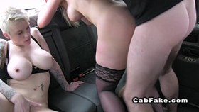 anal threesome with busty blondes in c