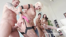 4on2 ria sunn amp francys belle - dap  gapes  anal fist  cumswallowfroma