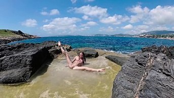 Russian Girl Sasha Bikeyeva - Enjoy the breathtaking views of the nature of Mallorca the sexuality and passion of a beautiful slender nudist