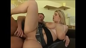 busty blonde makes guy cum twi