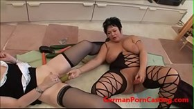 two amateur german milfs masturbate - germansexcasting.com