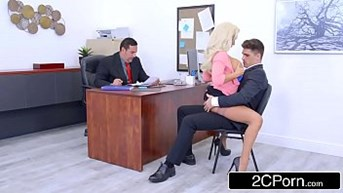 busty olivia fox using her big tits to her companyamps advantage