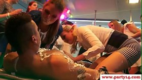european sexparty girls munching on strippers