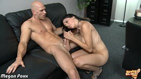 chesty brunette megan foxx blowing a big co