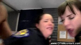 Female cops gets ass fuck