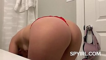 hot blonde with hot panties before shower-hidden cam clip