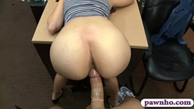 hot brunette girl gets her pussy banged by pawn du