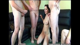 new amateur young gangbanged by older men