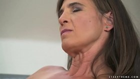 Older woman Mariana riding a dick wi