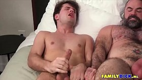 Gay Threesome Family Jizz