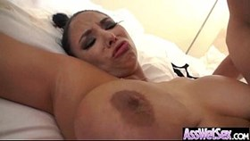 oiled all up big butt girl take it in her ass clip-