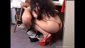 likely mature latina old spunker gives a super hot blowjob