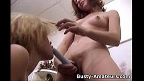 busty kira and holly playing with dil