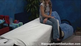 Hot girl in massage room