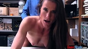 hot brunette milf thief fucked her way out of trouble