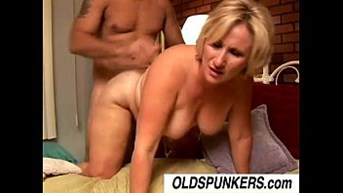 lovely older blonde molly gives you a messy rimjob