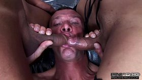 PINKO SHEMALES guy fucked by two shemales