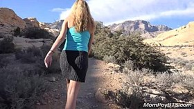 hot blonde girl fucks on hike
