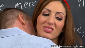 innocenthigh tall brunette young vivie delmonico fucked facializ
