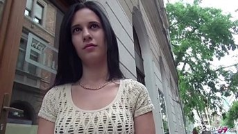 GERMAN SCOUT - 18yr OLD SMALL TEEN SEDUCE TO FUCK AT PUBLIC CASTING BY HUGE DICK STRANGER