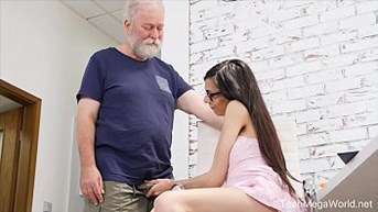 Old-n-Young.com - Ashely Ocean - Blowjob cowgirl ride massive facial
