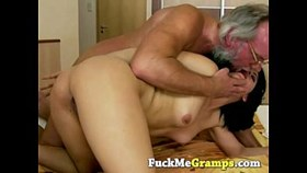 petite young slut hard banged by grandpa