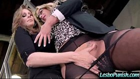 hot lez get toy sex punishment from mean lesbo clip-