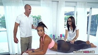 massage threesome with sexstar kelsi monroe lily jordan and sean lawless