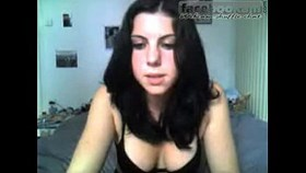 blackhair girl on webcam chat