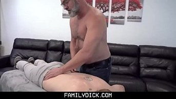 Skinny Fit Stepson Cums In Stepdadamps Mouth