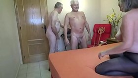 mature with two hot men