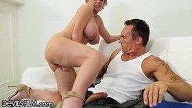 devilsfilm milf squirts gushers on military hubbyamps cock