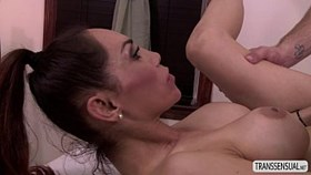 TS Sunday extreme penis massage and butt centric work out