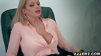 hot blonde brooklyn chase fucks in the office