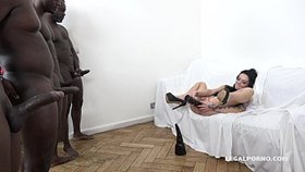 tattooed nympho inga devil gets fucked like a whore by 4 bbc