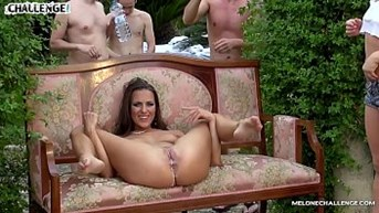 melonechallenge mea melone  wendy moon fuck spanish guys in big orgy outdoors
