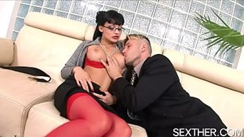 aletta ocean gives blowjob then hardcore sex
