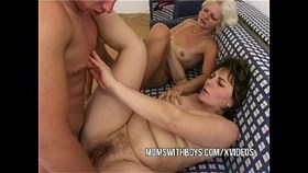anal having sex with two hot matures