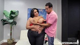 Huge Booty Plump BBW Diana Nicole Plays at Beach with BBC,
