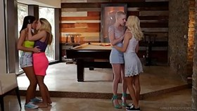 lesbian couples swap each other - riley nixon and elsa je
