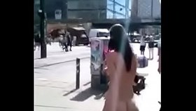Naked at public with tiny boobs ampamp shaved pussy