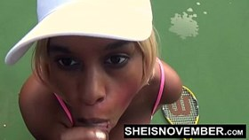 stranger public tennis court bigtits blowjob black reality sexstar sheisnovember