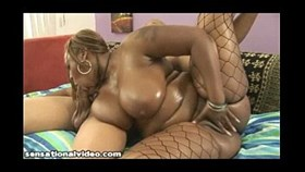 big booty black girl gets her big ass fucked and oiled