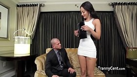 Lingerie sheshaft fucks guy for cash